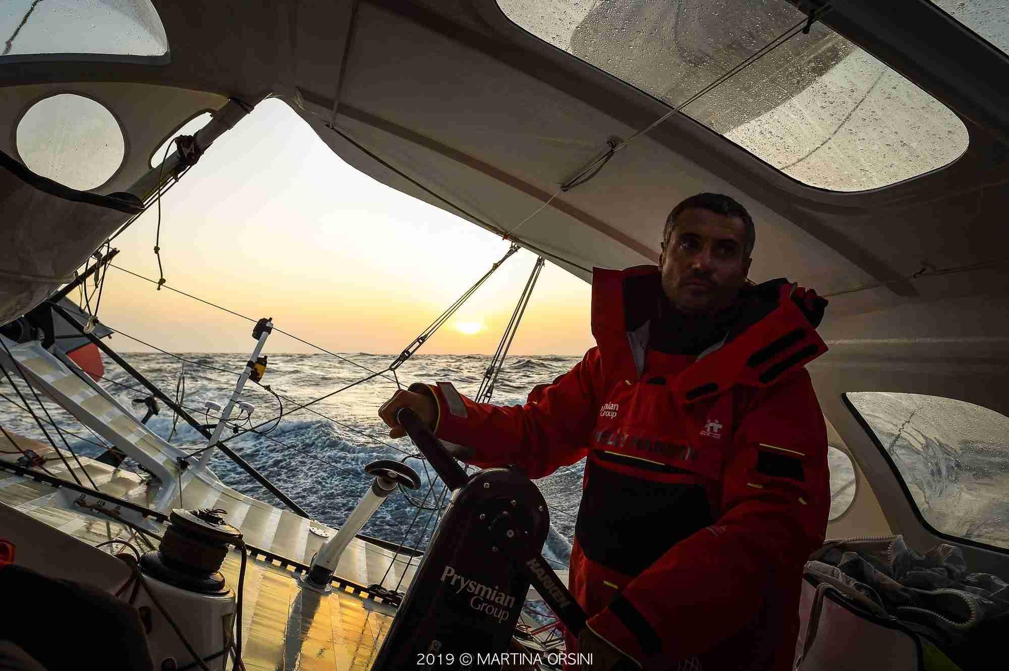 Giancarlo Pedote in navigazione