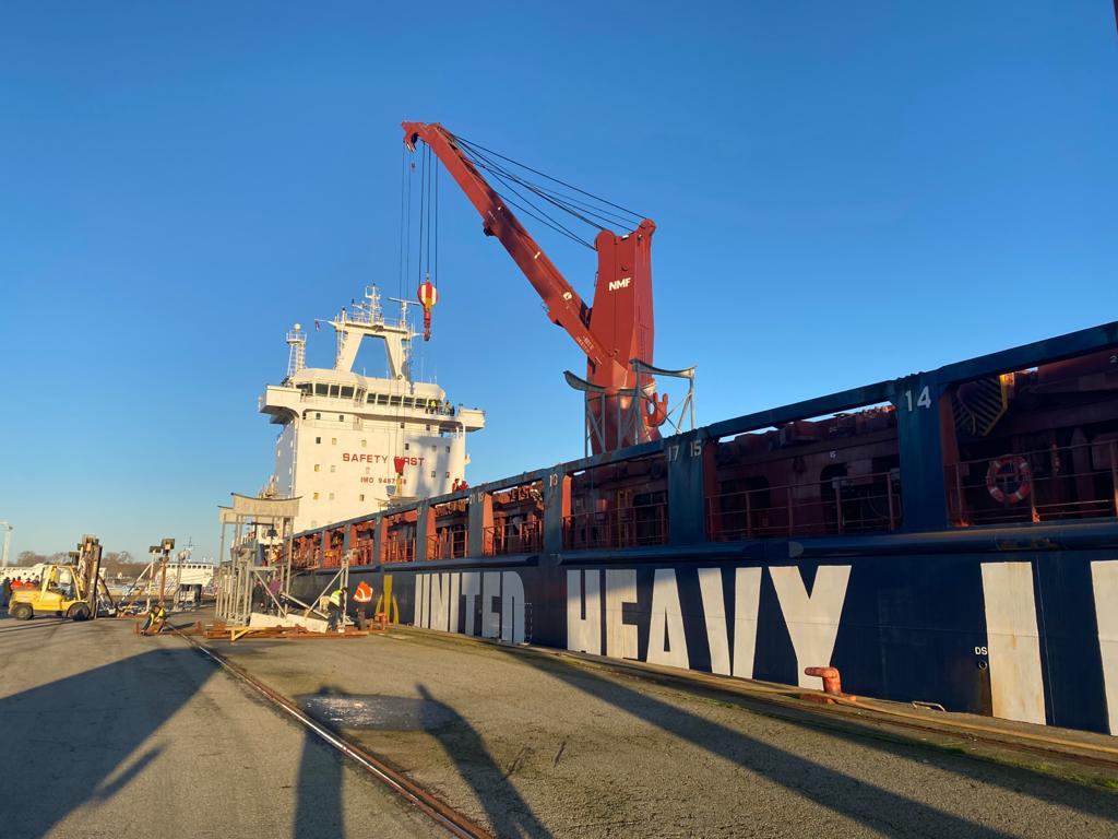 foto cargo dal Brasile per Prysmian Group