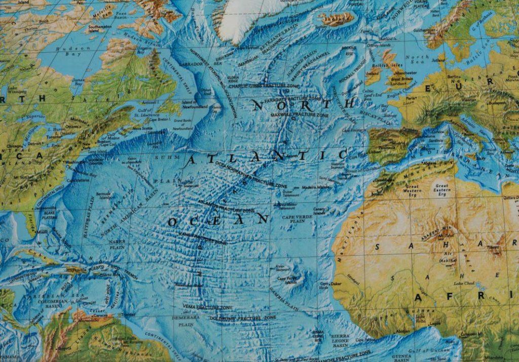 Mappa Oceano Atlantico