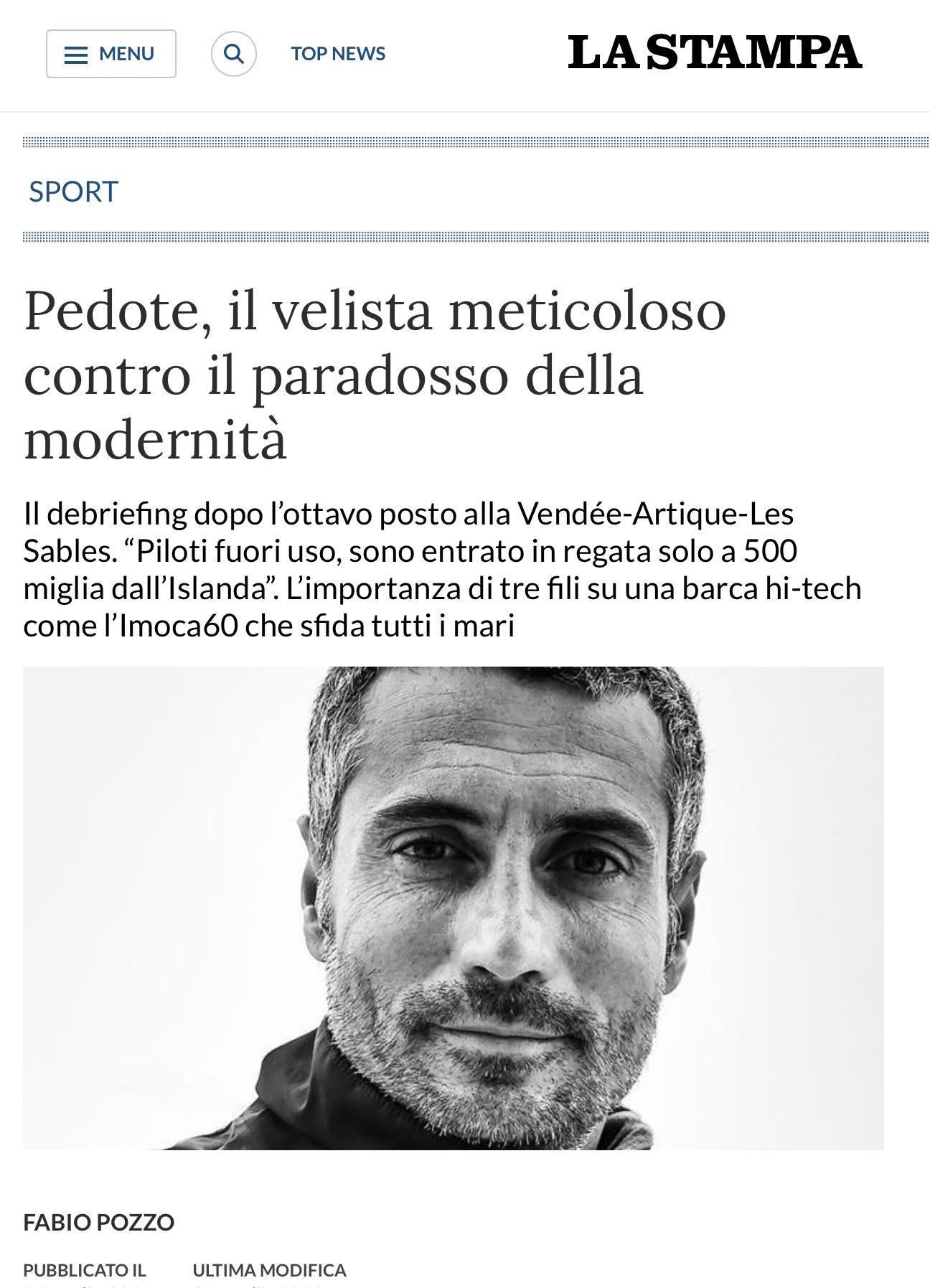 La Stampa - Intervista di Fabio Pozzo